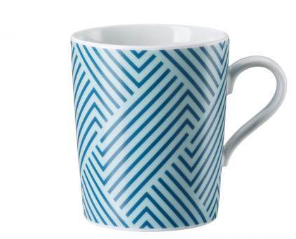 Arzberg Tric Vivid Bloom Becher mit Henkel Pattern Blue