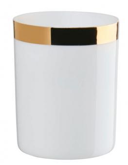 ASA Selection Windlicht Zylindrisch mit Goldrand Ø 6 cm H 7,8 cm Porzellan