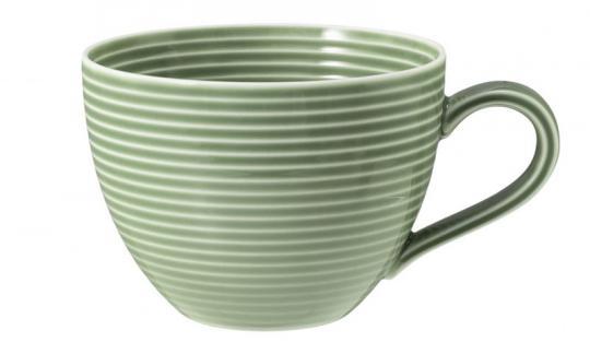 Seltmann Beat Kaffeeobertasse 0,26 L mit Relief Salbeigrün