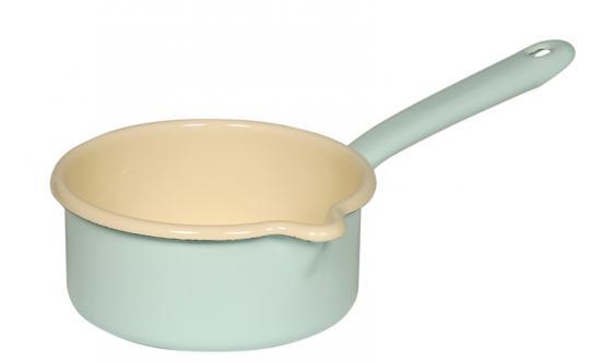 Riess Bunt Stielkasserolle mit großem Ausguss 14 cm 3/4 L