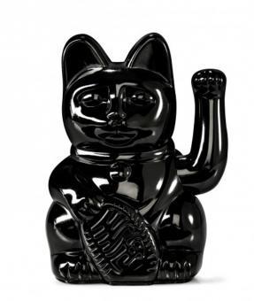 Donkey Winkekatze Lucky Cat Shiny Black