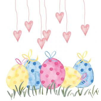 Paperproducts Design Servietten 33x33 cm Lovely Easter