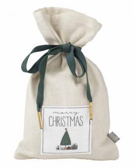 Räder Giving Weihnachtssäckchen Klein Grau Merry Xmas 22X13Cm
