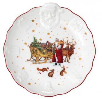 Villeroy & Boch Toy´s Fantasy Schale mit Santa Relief, Nostalgie 24x25x4,6 cm
