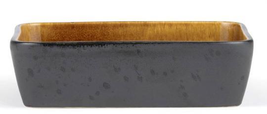 Bitz Auflaufform 30x17 cm schwarz/amber
