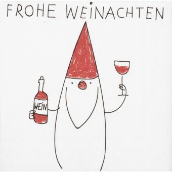 Räder Dining Cocktailserviette 25x25 cm Frohe Weihn. Santa