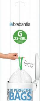 Brabantia Müllbeutel 30 L (G) 20 Stk. Pro Rolle Weiss