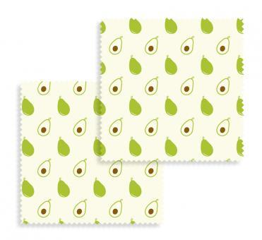 Beeswax Wraps 2-tlg. Set Tücher Avocado