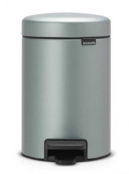 Brabantia Treteimer newIcon 3 L mit Kunststoffeinsatz und geräuschlosem Deckelverschluss - Metallic Mint