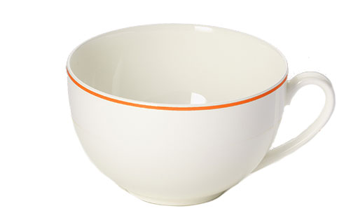 Dibbern Simplicity Kaffee Obertasse Rund 0,25 L Orange