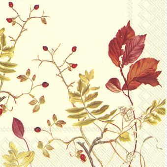 IHR Lunch-Servietten 33x33 cm Fall Branches Cream