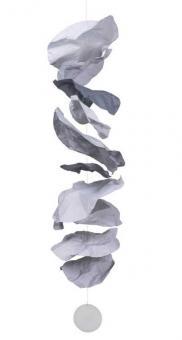 Räder Zuhause Papierkette groß grau L 120 cm