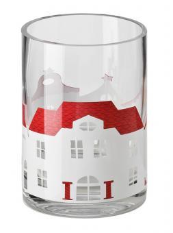 Hutschenreuther Little Christmastown Glas dekoriert Windlicht klein