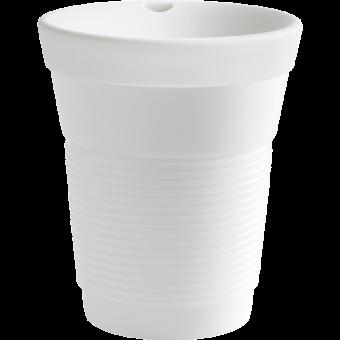 Kahla Aktion Becher 0,35 L + Trink- und Snackdeckel Cupit / Magic Grip Porcelain White