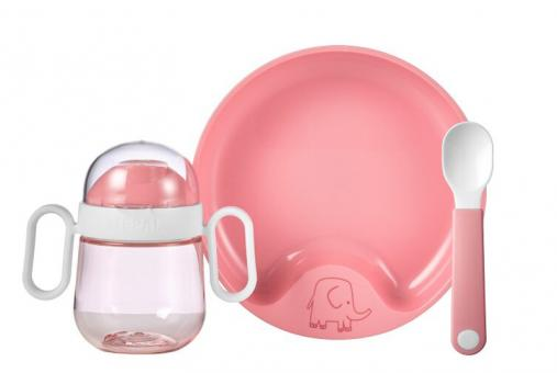 Mepal Set Babygeschirr Mio 3-tlg. Deep Pink