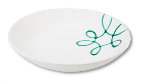 Gmundner Keramik Pur Geflammt Grün Suppenteller Cup 20 cm