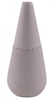 Räder Zuhause Perlenvase Design 5 warmes grau Ø 6 cm H 14 cm