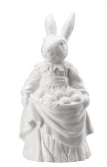 Hutschenreuther Hasenfrau mit Eiern Hasenfiguren Weiss
