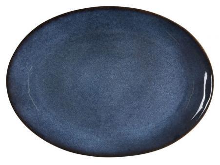 Bitz Platte oval 45x 34 cm schwarz/dunkelblau