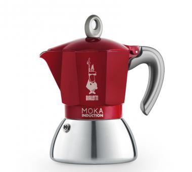 Bialetti Espressokocher New Moka Induction rot 4 Tassen