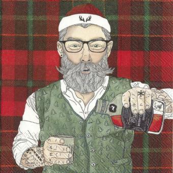 IHR Lunch-Servietten 33x33 cm Hipster Santa