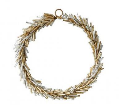 Gift Company Kranz Hey 10x10 cm Perlen gold