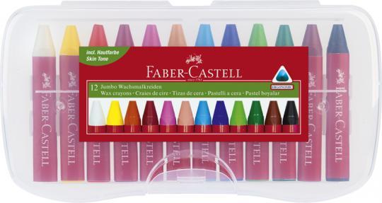 Faber-Castell Wachsmalkreide Jumbo 12er Box