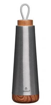 chic.mic Trinkflasche 500 ml Bioloco Loop silber