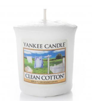Yankee Candle Votivkerze Clean Cotton