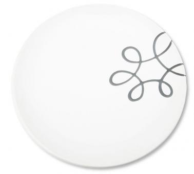 Gmundner Keramik Pur Geflammt Grau Speiseteller Cup 25 cm