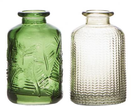 Hakbijl Minivase 2CLR grün H 10 cm Ø 6,5 cm