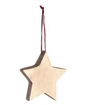 Leonardo Rosso Mangoholzhänger 10 cm Stern