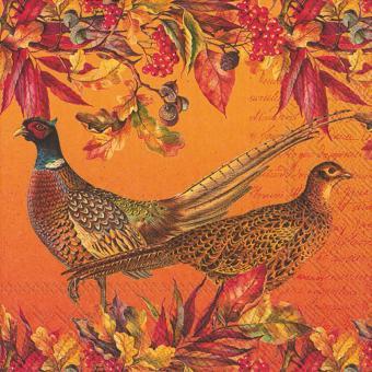 IHR Lunch-Servietten 33x33 cm Golden Pheasants