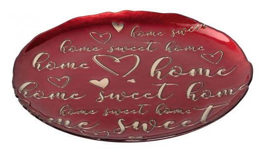 Leonardo Teller 33 cm Rot 'Home Sweet... Decora