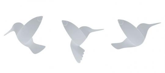 Umbra Wanddeko Hummingbird 9-tlg. Weiß
