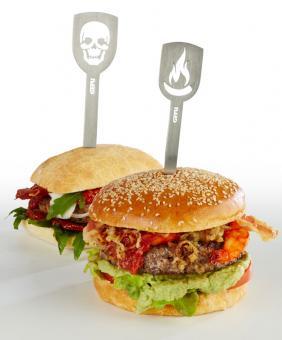 Gefu Hamburger-Spieße Torro 2 Stk. Totenkopf/Flamme