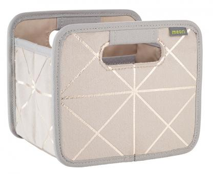 Meori Faltbox Mini Samt Metallic Dusty Sand