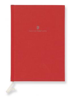 Graf von Faber-Castell Buch mit Leineneinband A5 India Red