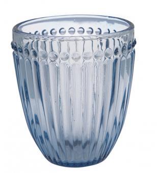 Greengate Wasserglas Alice blue
