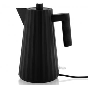 Alessi Plissé Elektrischer Wasserkessel schwarz