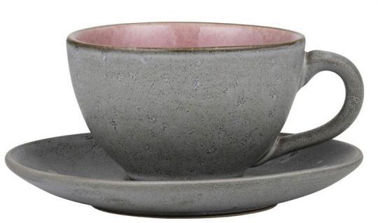 Bitz Tasse mit Untere grau/hellpink