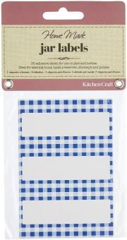 KitchenCraft Gläseretiketten 30 Stk. Kleinkariert