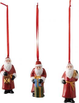 Villeroy & Boch Nostalgic Ornaments Ornamente Santa Claus, Set 3-tlg. 8x3,5 cm
