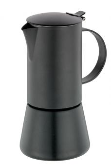 Cilio Espressokocher Aida schwarz 6 Tassen