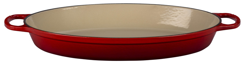 le creuset auflaufform signature oval 36 cm kirschrot. Black Bedroom Furniture Sets. Home Design Ideas