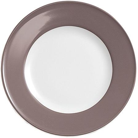 dibbern solid color umbra teller flach 21 cm fahne solid color umbra. Black Bedroom Furniture Sets. Home Design Ideas