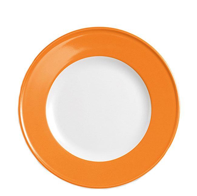 dibbern solid color orange teller flach 21 cm fahne solid color orange. Black Bedroom Furniture Sets. Home Design Ideas